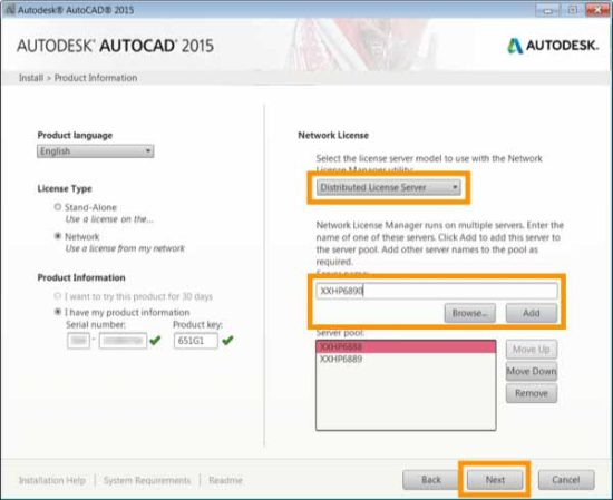 Cài đặt AutoCAD bản quyền trên máy tính có giấy phép Network