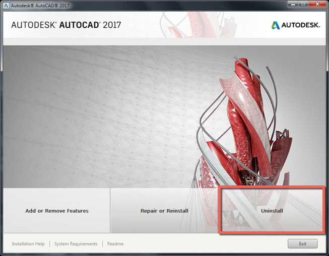 Gỡ cài đặt AutoCAD và các sản phẩm Autodesk cho Windows